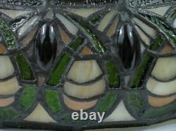 16 Vtg SIGNED Dale TIFFANY Stained Slag Glass Lamp Shade