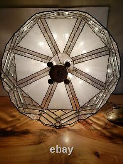 18 Vintage Tiffany Style Hanging Light Lamp Shade Stained Glass Ceiling Fixture