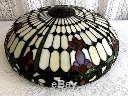 18 Vintage Tiffany Style Stained Glass Lamp Shade # 4