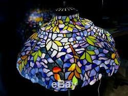 19 Vintage Tiffany Style Wisteria Stained Glass Lamp Shade