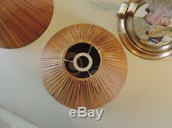 2 Abat Jour Rotin Osier Era Audoux Minet Vintage Rattan 2 Shades Lamp Light