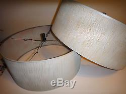 2 mid century vintage textured lamp shade modern atomic aloadofball Choice Image