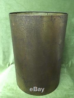 2 Vintage Antique LAMP SHADE PAIR Gold Mid Century hollywood regency ALBARRAN