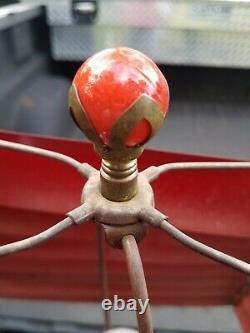 2 Vintage Venetian Metal Lamp Shade Art Deco Cleveland Ohio Horse Light