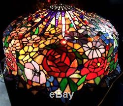 20 vintage tiffany style wisteria stained glass lamp shade 349 mozeypictures Gallery