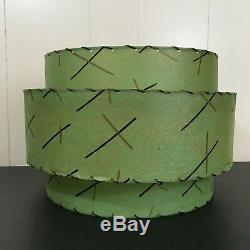 3 tier MINT / AQUA fiberglass vintage lamp shade mid century atomic
