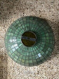 30 Antique Unique Tree Trunk Lamp Base + Grape Leaded Shade -possible shipping