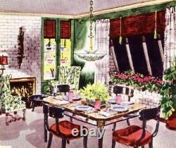 438 50s 60s Vintage Light Lamp Fixture Shade Lightolier mid century chandelier