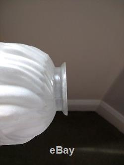 5 x Vintage FLAME FIRE / TORCH Lamp / Light Shade Art Deco Style Opaque Glass