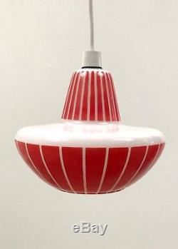 50s Outstanding Atomic Vintage Mid Century unusual UFO Space Age glass lampshade