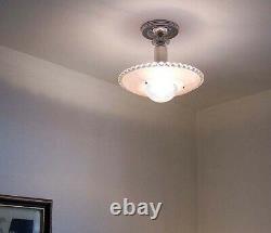 547 Vintage antique arT Deco Ceiling Light Glass Shade Lamp Fixture Chandelier