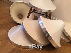 6 X 1960's Retro Vintage Mid Century Lights Light Shade Pendant Industrial