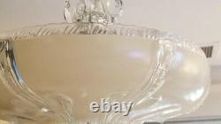 851i 40's Vintage Antique Ceiling Light Lamp Fixture Glass Shade Chandelier