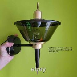 881b Vintage Sconce Ceiling Light lamp fixture shade midcentury modern porch