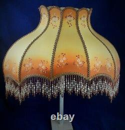 Amazing 1940s / 1950s Vintage Hand Painted Boudoir Lamp Shade Immaculate