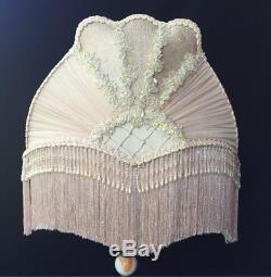 Amazing Victorian Lamp Shade Antique Table Lamp Vintage Lampshade