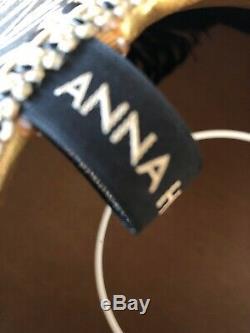 Anna Hayman traditionalVintage Victorian Downton Abbey black satin lampshade