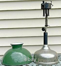 Antique 1919 Coleman Table Lamp Lantern Quick Lite with Enameled Shade
