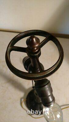 Antique Handel Base Lamp for leaded, stained or slag glass shade