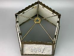 Antique PPM Porcelain Lithophane 5 Panels Lamp Shade
