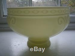 Antique Vintage AKRON CREMAX Yellow Glass LAMP SHADE also for COLEMAN LAMPS
