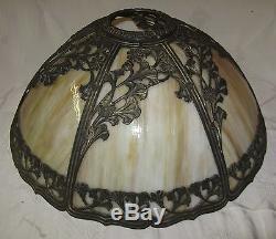 Antique Vintage Art Nouveau Deco Bowed Slag Stained Glass