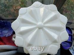 Antique White With Black ART DECO Tiered Skyscraper Light Shade Ceiling Fixture