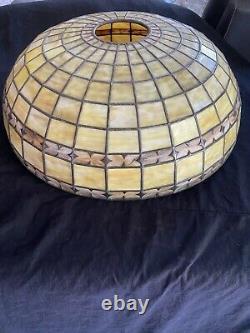 Bigelow Kennard Leaded Shade, leaded Lamp, Slag Shade, Arts Crafts, Handel Lamp Era
