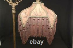 Bridge Floor Lamp Shade Victorian Fringed Mocha Tailor Made Lampshades