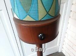 C. 1960's VINTAGE DANISH MID CENTURY MODERN MCM FLOOR LAMP CYLINDER SHADE UNIQUE