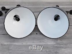 Ceiling industrial enamel scissor Light Lamp shade 1/4 design vintage retro, R96