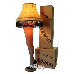 christmas leg lamp story 45in light vintage fringe lampshade replica holiday - Christmas Story Leg Lamp Replica