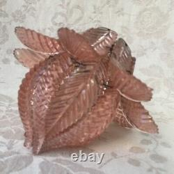 Fabulous Antique Vtg FRENCH PINK Glass Separate PETALS LAMP SHADE 19th Victorian