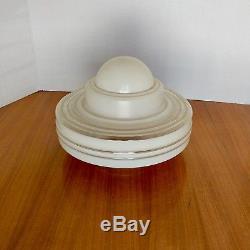 Fantastic & rare vintage Glass Nuart Frankart Deco Double Nude Lamp Shade Globe
