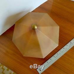 Fantastic vintage Large Glass Nuart Frankart Ronson Art Deco Lamp Shade Globe