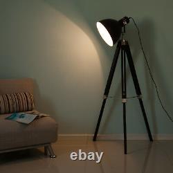 HOMCOM Livingroom Tripod Floor Lamp Lighting Vintage Studio Dome Shade Retro