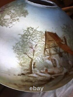Handel Phoenix Pairpoint Pittsburgh Jeannette Antique Reverse Painted Lampshade