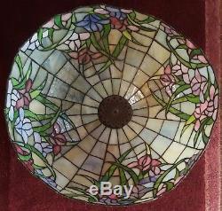 LARGE RARE Dale TIFFANY Inc lamp shade handmade VINTAGE GORGEOUS