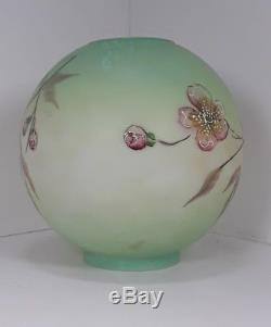 Large Signed Antique Vtg GWTW Banquet Oil Kerosene Lamp Shade Globe 28 diameter