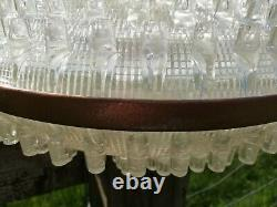 Large Vintage Retro Lucite Perspex Ceiling Light Shade Lampshade UFO Space Age