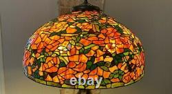 Large Vintage Stained Glass Lamp Shade 22