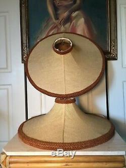 MID Century Modern Vintage Kitsch Moss Lamps Lamp Shade Linen Atomic Bell Custom