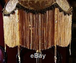 Madame Bella, Victorian Downton Lampshade Exquisite Gold Chenille Brocade 14