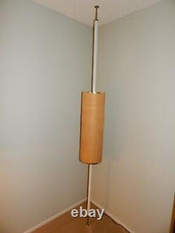 Mid Century Danish Modern Vintage Tension Pole Floor Lamp