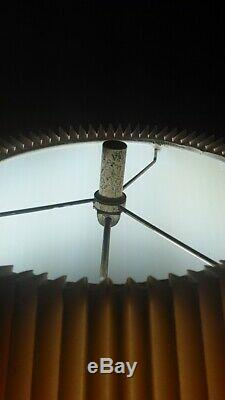 Mid Century Modern Green Glass Globe Lamp Big Antique Vintage Table Lamp W Shade