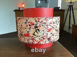 Mid Century Modern Vintage Style 3 Tier Fiberglass Lamp Shade Orange Atomic 881