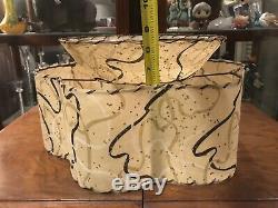 Mid Century Vintage 2 Tier Amoeba Fiberglass Lamp Shade Starburst Atomic 16 MCM