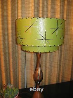 Mid Century Vintage Style 2 Tier Fiberglass Lamp Shade Modern Starburst O2I