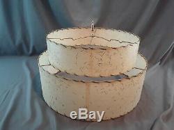 Mid Century Vintage Style 2 Tier Fiberglass Lamp Shade Starburst Atomic 19
