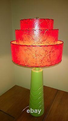 Mid Century Vintage Style 3 Tier Fiberglass Lamp Shade Modern Pagoda